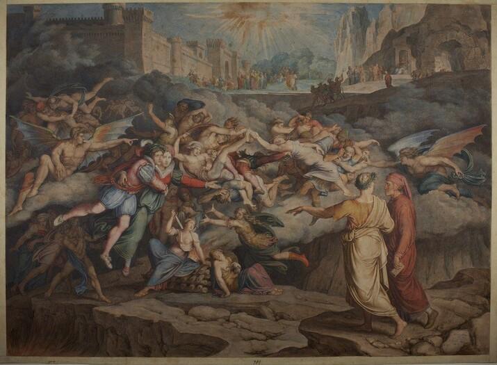 Dante si Virgil in cel de-al doilea cerc
