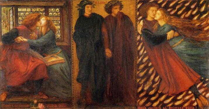 Dante Gabriel Rossetti - Paolo and Francesca