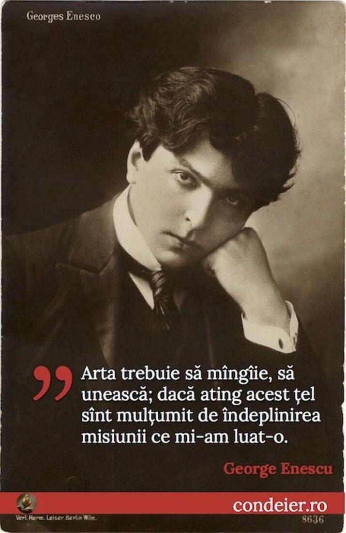 George Enescu despre arta