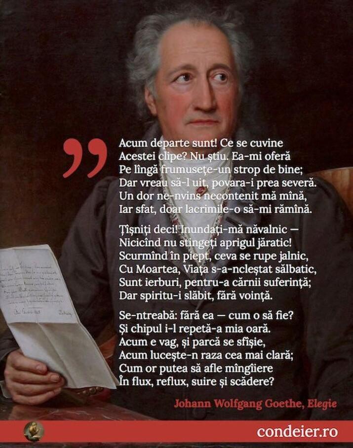 Johann Wolfang Goethe Elegie