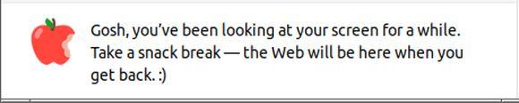 Firefox mă îndeamnă să iau o pauză