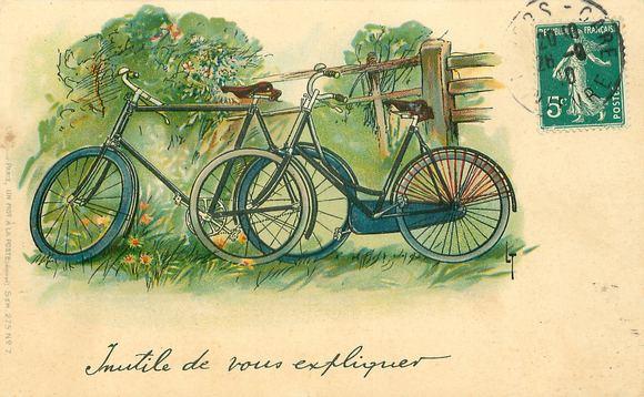 Carte poștală -- 2 biciclete